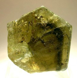 Description: Green crystal of chrysoberyl