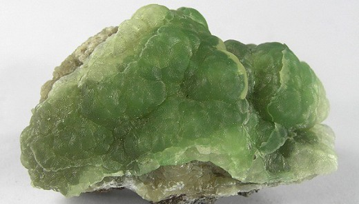 Description: Green crystal of smithsonite