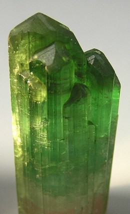 Description: A green tourmaline crystal